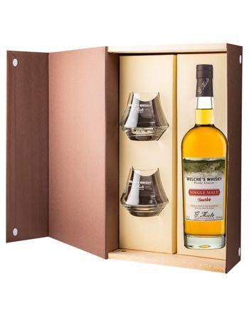 Coffret Welche's Whisky Single Malt Tourbe + 2 verres - G.Miclo