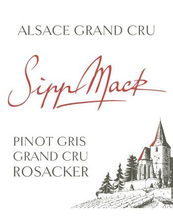 Pinot Gris Grand Cru Rosacker 2016 - Sipp-Mack
