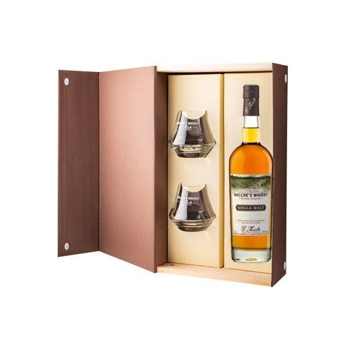 Coffret Welche's Whisky Single Malt 70cl + 2 verres - G.Miclo
